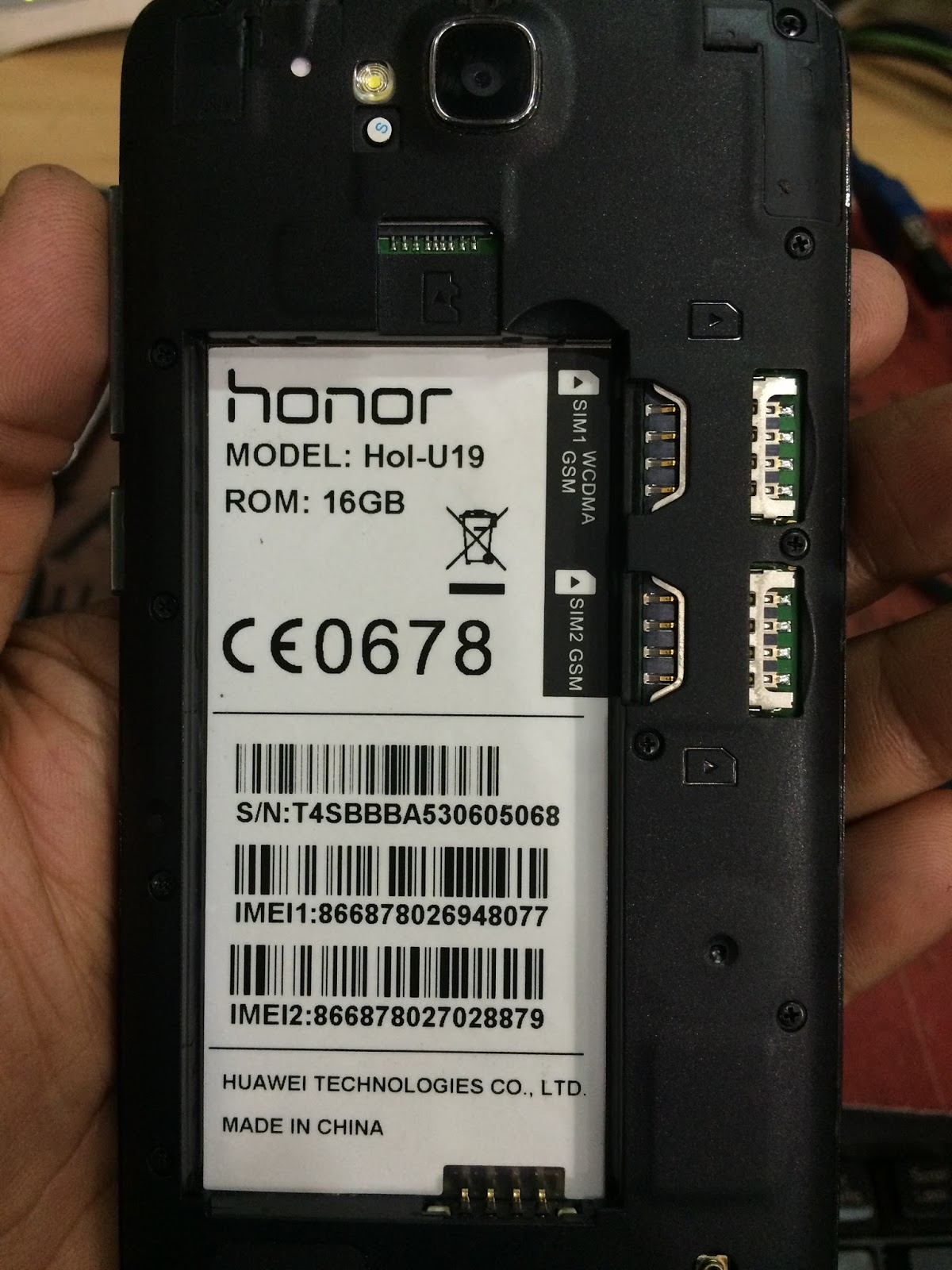 Foysal Telecom Android Official Firmware  Huawei Honor Hol