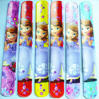 SLAP principessa SOFIA braccialetti gadget regalo fine festa compleanno femminucce