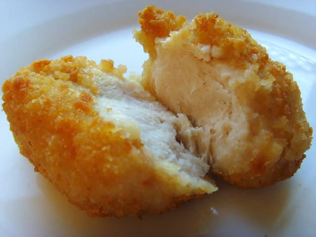 Photo of a Chicken Nugget Torn In Half