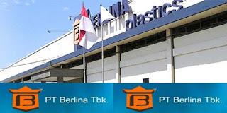 Lowongan Kerja Bekasi Terbaru : PT Berlina Tbk - Teknisi Mesin (Operator Mesin)