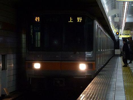 既に消滅した01系LED車の銀座線 上野行き2 01系LED車