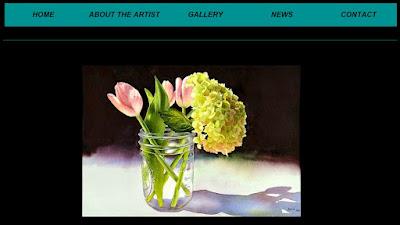 Screen grab of Marla Greenfield webpage