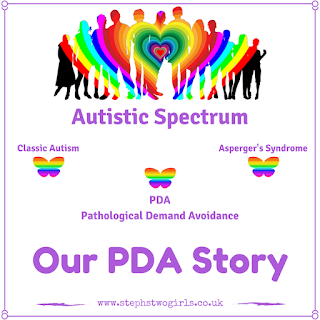 our pda story logo with rainbow people