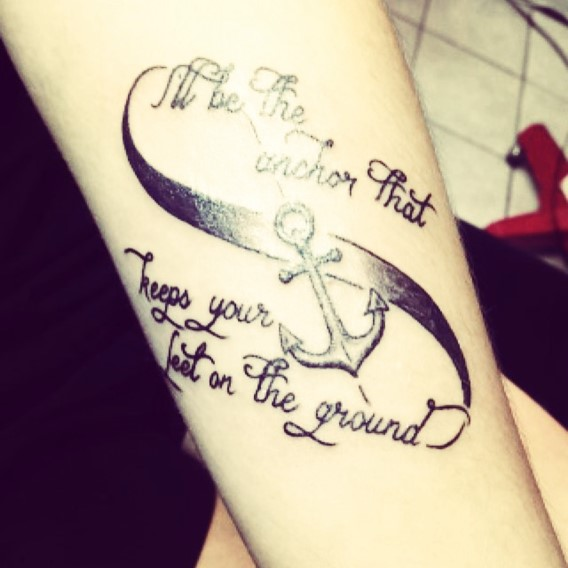 Perfect Anchor Infinity Tattoo Designs