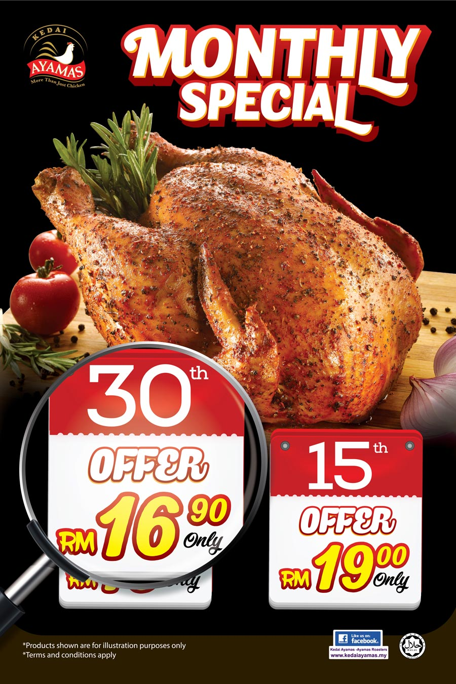 Kedai Ayamas Whole Roaster RM16.90 (Normal Price: RM23) Every 30th of the Month