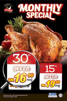 Ayam Panggang Kedai Ayamas Monthly Discount Promo