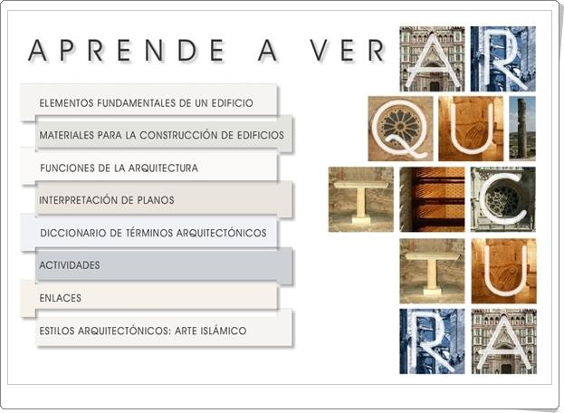 """""""Aprende a ver Arquitectura"""" (Aplicación interactiva de Secundaria)"""