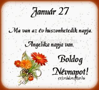 Január 27 - Angelika