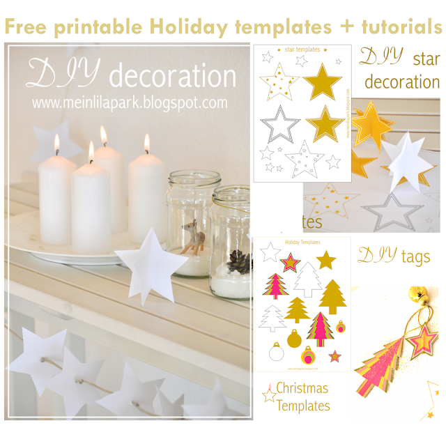 Free printable Holiday templates and tutorials - Adventdekorationen - round-up