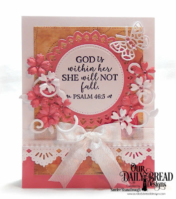 Our Daily Bread Designs Stamp Set: God Verses 2, Paper Collection:  Beautiful Blooms, Custom Dies: Bitty Butterflies, Beautiful Borders, Pierced Rectangles, Filigree Circles, Pierced Circles, Bitty Blossoms, Fancy Foliage