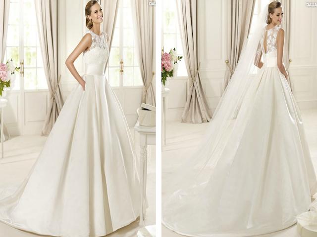 vestidos de noiva recatados