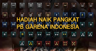 Ini Hadiah Naik Pangkat Level Char PB Garena Indonesia Terbaru