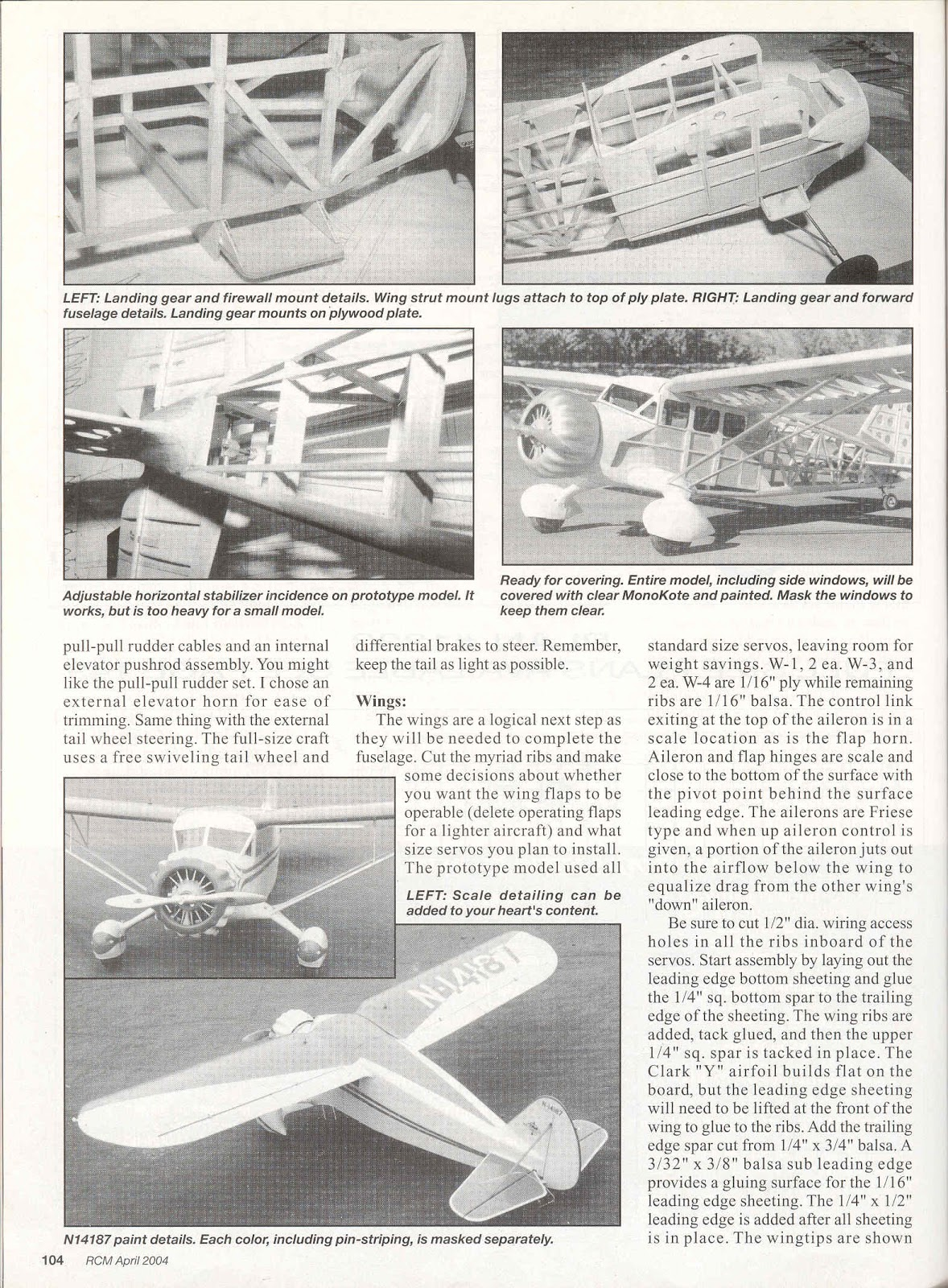 RCM *Stinson SR5-E Reliant N* Article and Plan