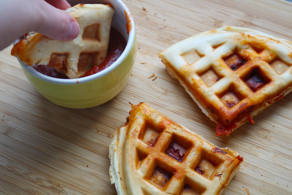Easy Pizza Waffles (the cheats way) | Hungry Little Bear