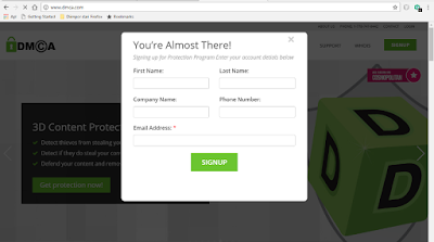Sign up DMCA
