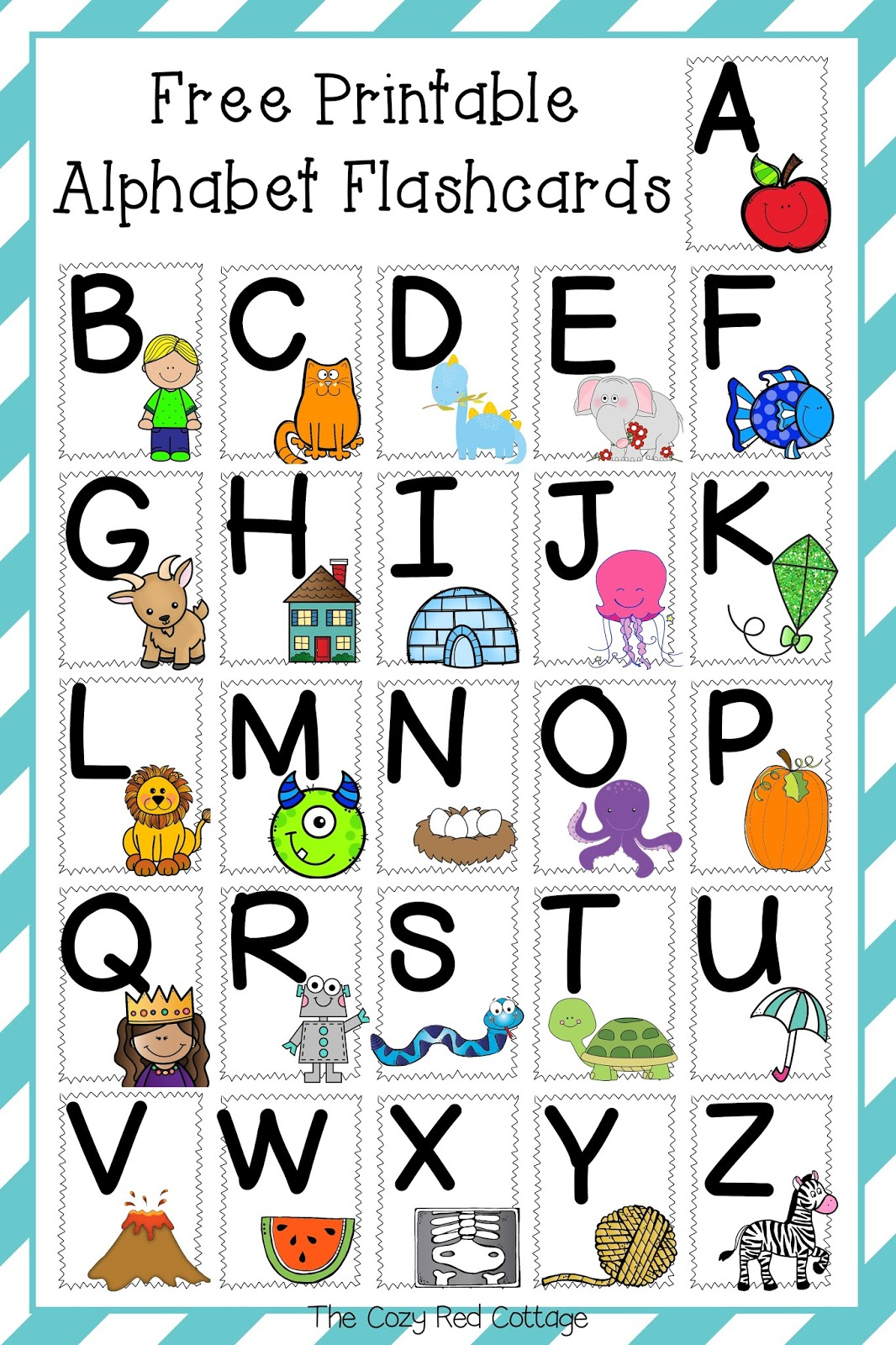 Printable Alphabet Flash Cards That Are Peaceful