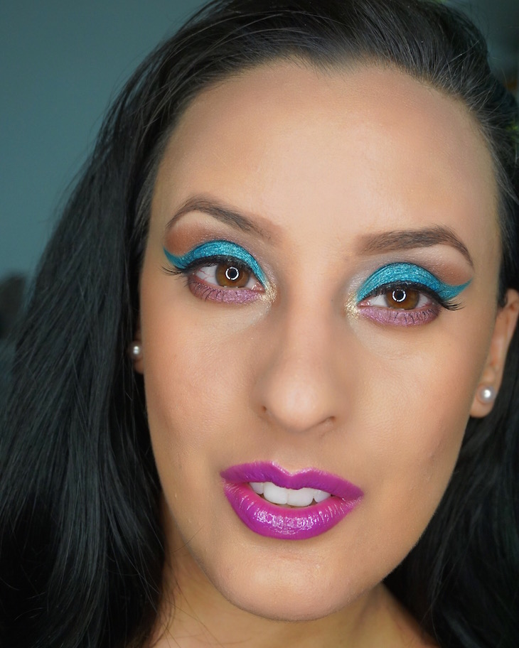 MOTD-Teal-Purple-Using-All-Elf-Cosmetics-Vivi-Brizuela-PinkOrchidMakeup