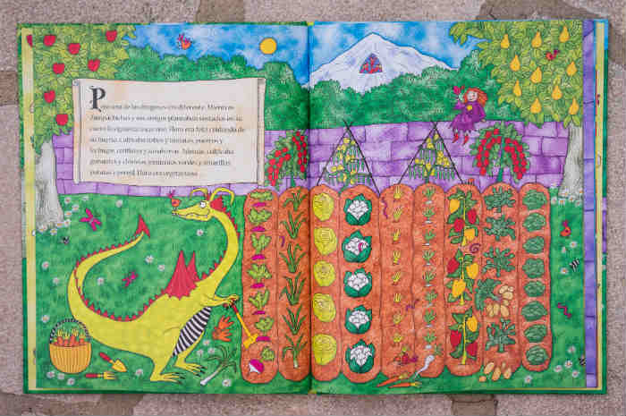 cuentos y libros infantiles con valores intermon oxfám Floro, el dragón vegetariano