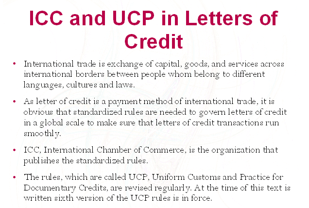 What is ICC and UCP? What are the impoartance of these two terms.
