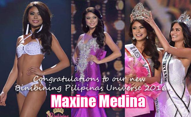 Maxine Medina Won Binibining Pilipinas Universe 2016