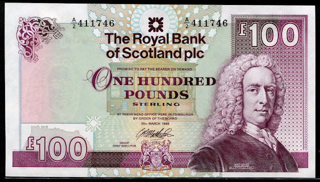 Royal Bank of Scotland banknotes One Hundred Pounds Sterling Note