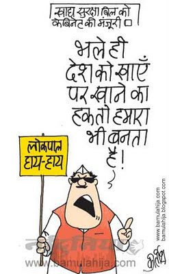 food bill, jan lokpal bill cartoon, corruption cartoon, corruption in india, indian political cartoon
