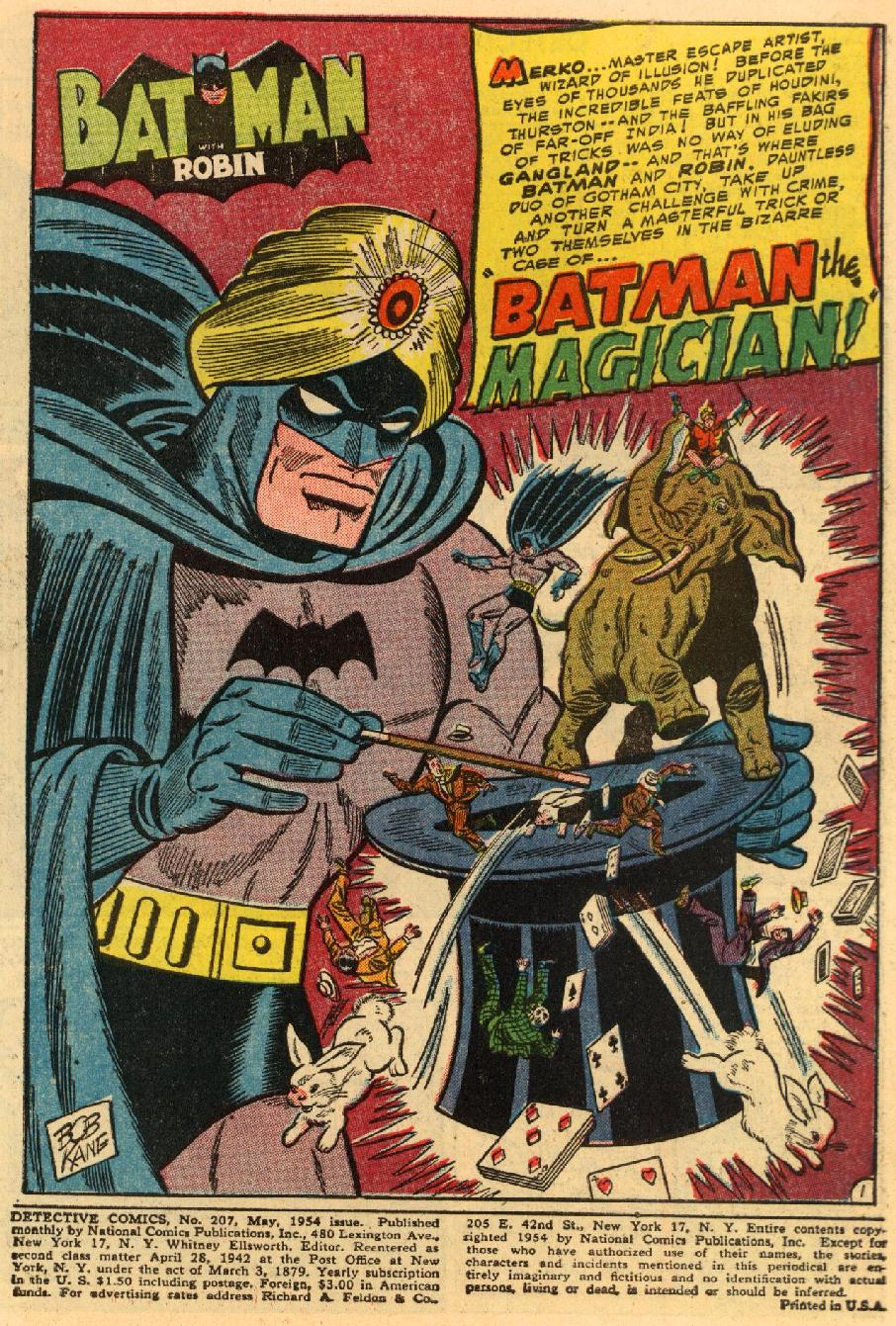 Detective Comics (1937) 207 Page 1