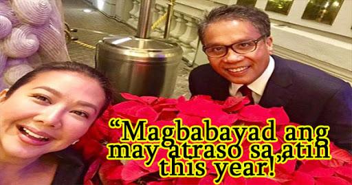 Magbabayad lahat ng may atraso sa atin this year hahaha - Korina Sanchez
