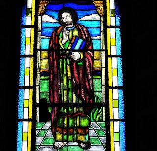Vitral de São João na Igreja Matriz Santo Antônio de Pádua - Silveira Martins (RS)