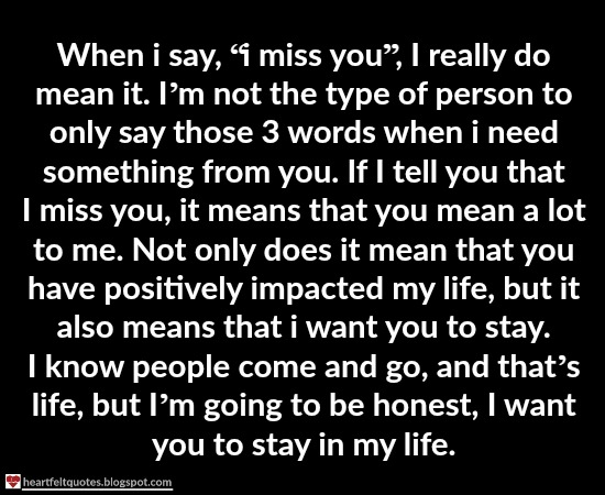 What to say when someone say i miss you