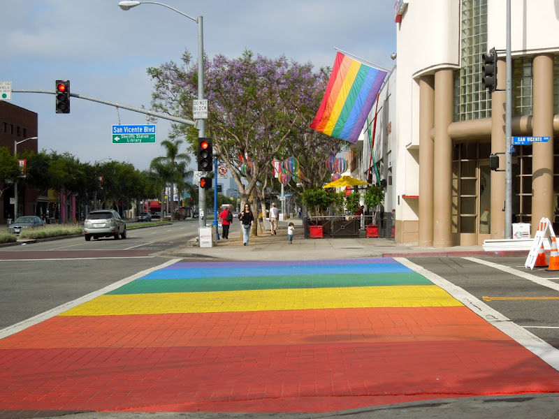 Pride rainbow brick road WEHO