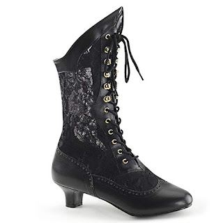 Women's lace victorian boots by funtasma