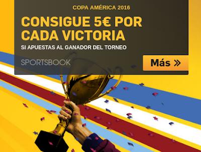 betfair gana 5 euros por cada victoria equipo elegido ganador Copa America 2016