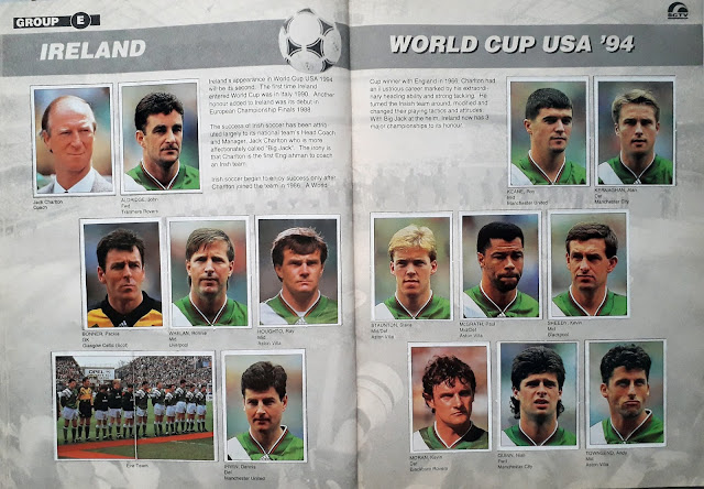 WORLD CUP USA '94 STICKER ALBUM COLLECTION GROUP E IRELAND