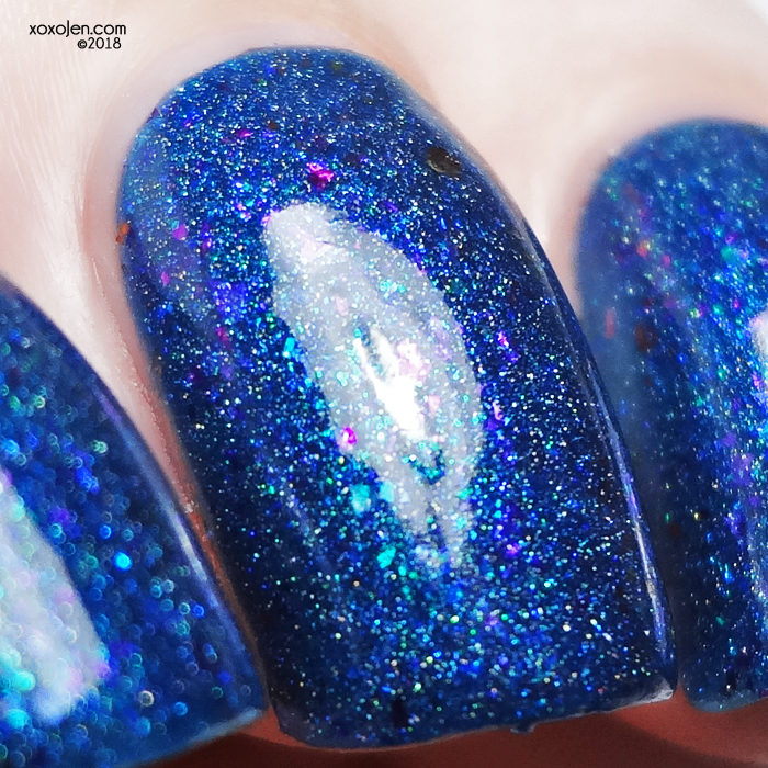 xoxoJen's swatch of Anchor & Heart Lacquer Fuzzy Blue Gobbler