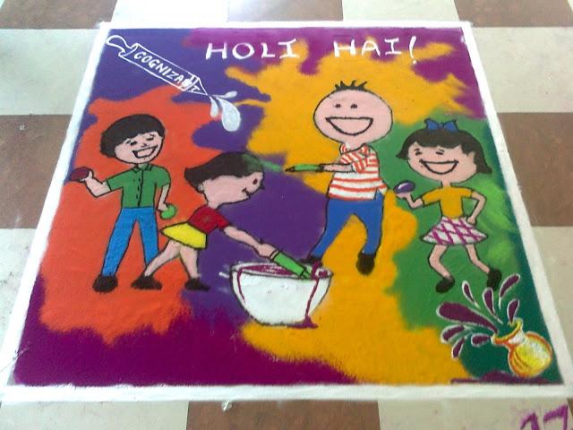 Happy Holi Rangoli Colors Images Designs & Patterns