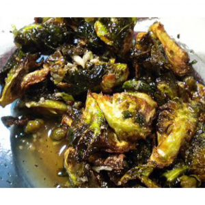Fried Brussels Sprouts With Sriracha-Honey Sauce Recipes — Dishmaps