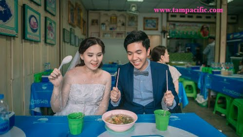 Bộ ảnh cưới ẩm thực của cặp uyên ương Thái Lan là MAX và MINT