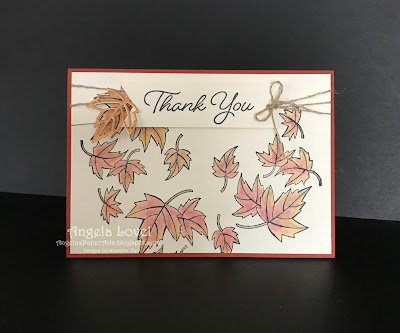 Stampin' Up! Blended Seasons autumn card by Angela Lovel, Angela's PaperArts