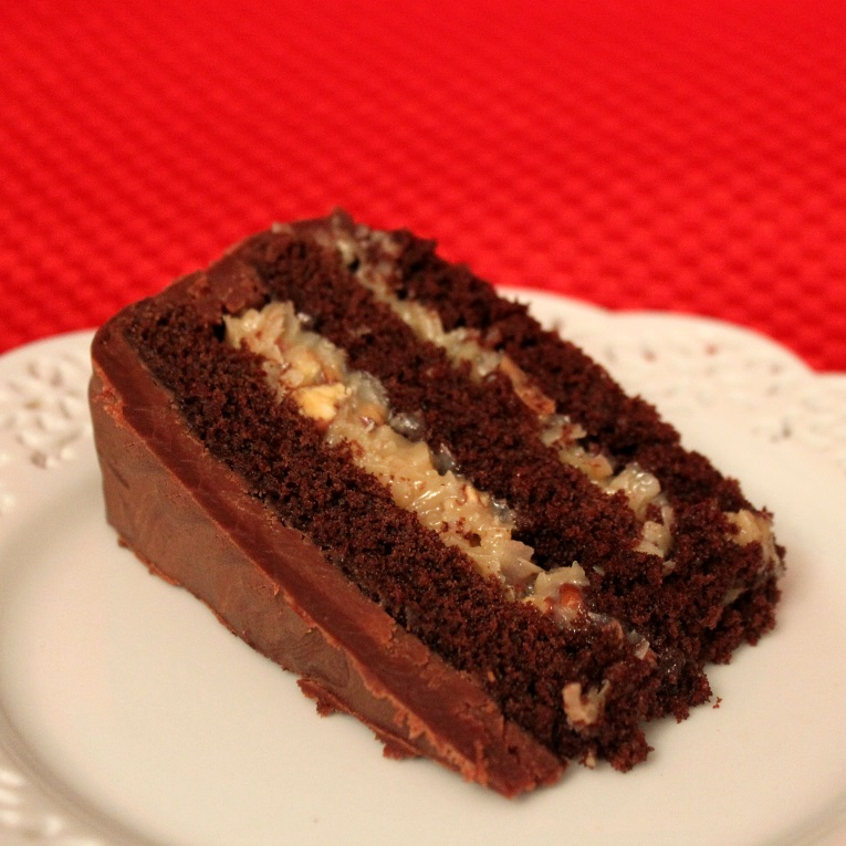 Inside Out German Chocolate Cake | Flourtrader