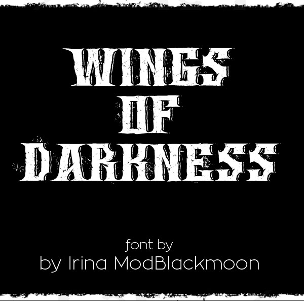 Wings of Darkness Free Font