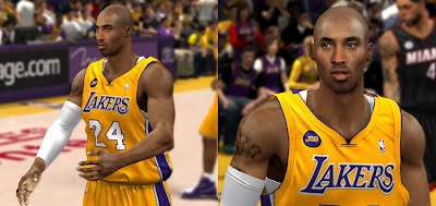 NBA 2K13 Kobe Bryant Shaved Cyberface Update