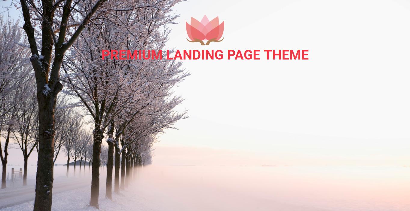 Premium Blogger Landing Page Theme
