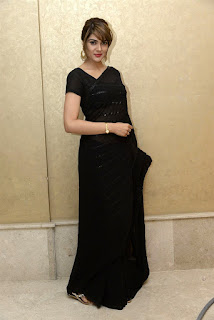 Sakshi Chaudhary Photos in Black Saree