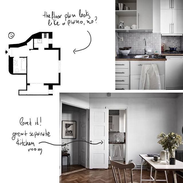 small apartment decoration ideas, 29 sq.m. • the round button blog