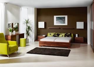 cuarto verde marrón blanco