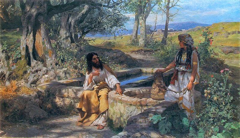 Jesus e a Mulher Samaritana - Pinturas com temas bíblicos