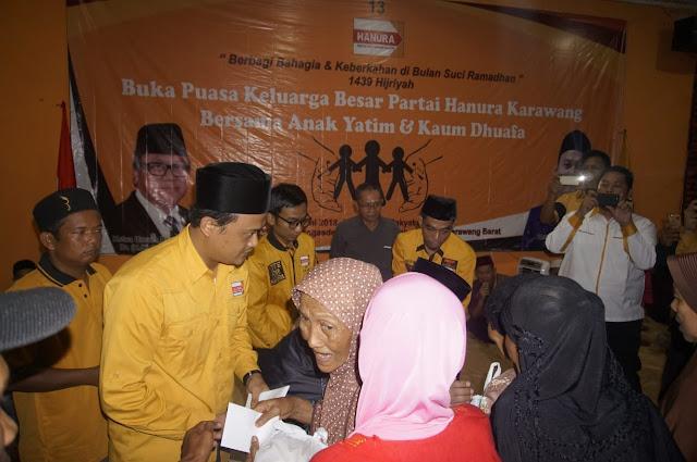 Hanura Karawang Berbagi  Bersama Yatim dan Dhuafa di Bulan Suci Ramadhan