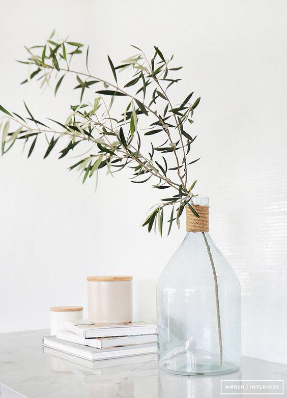 Llega la primavera nos ponemos verde hojas de olivo y hojas de eucalipto