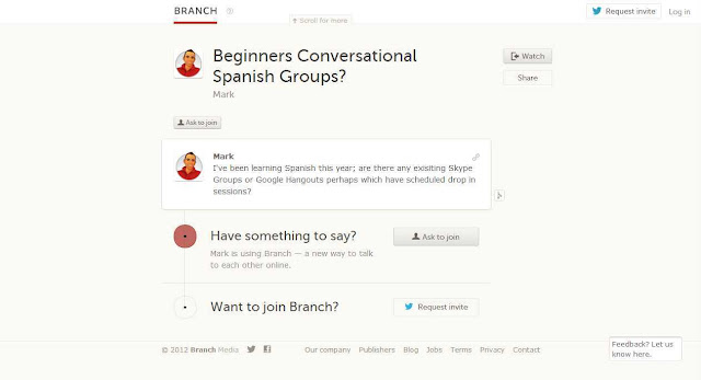 Groups: Organize free conversation social parties on your site: Branch online social debate app